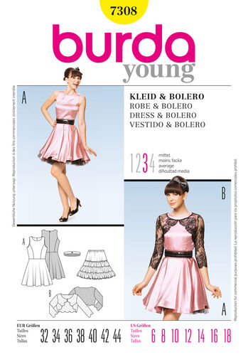 Burda Style Pattern 7308 Dress & Bolero