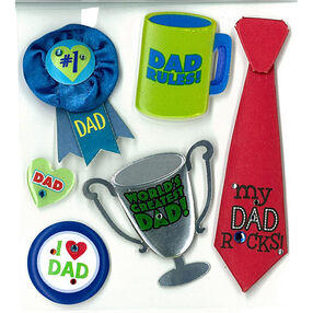 Number 1 Dad Stickers_50-20501
