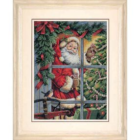 Candy Cane Santa, Counted Cross Stitch_08734