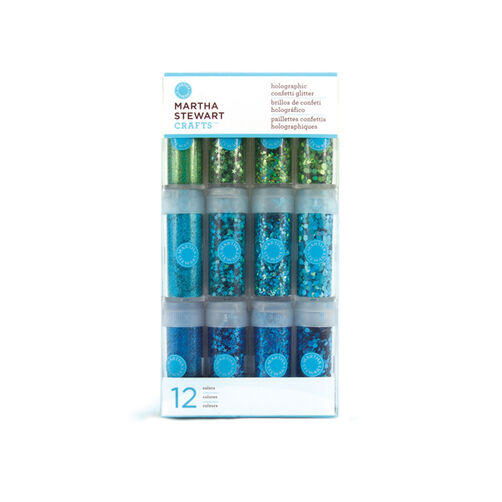 Holographic Multi Media Glitter 12 Pack Blues_40-34071