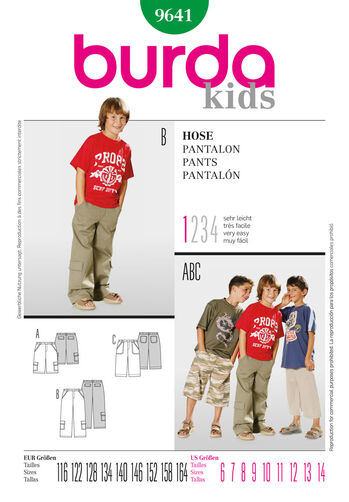 Burda Style Pattern 9641 Pants