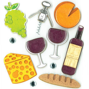 Wine Party Dimensional Stickers_30-578074