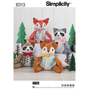 Simplicity Pattern 8313 Stuffed Animals