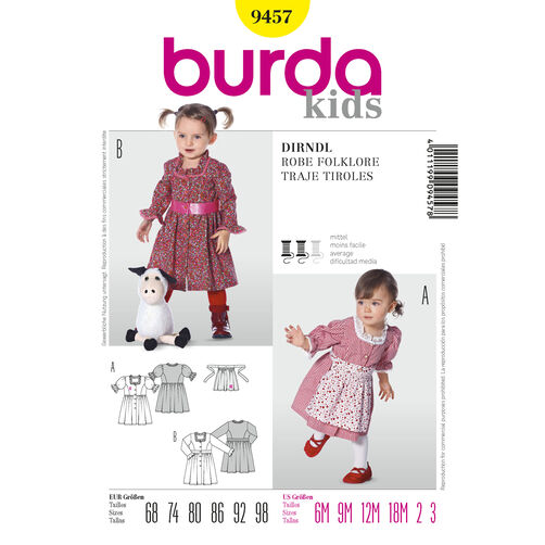 Burda Style Pattern 9457 Dirndl Dress
