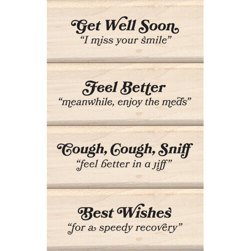 Get Well Soon Wood Stamp Set_60-10130