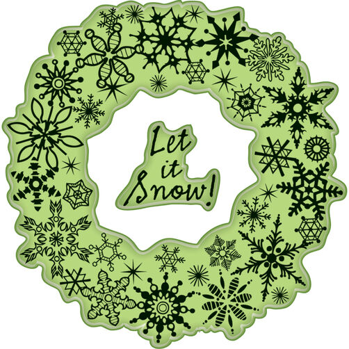 Snowflake Wreath Cling Stamps_60-60292