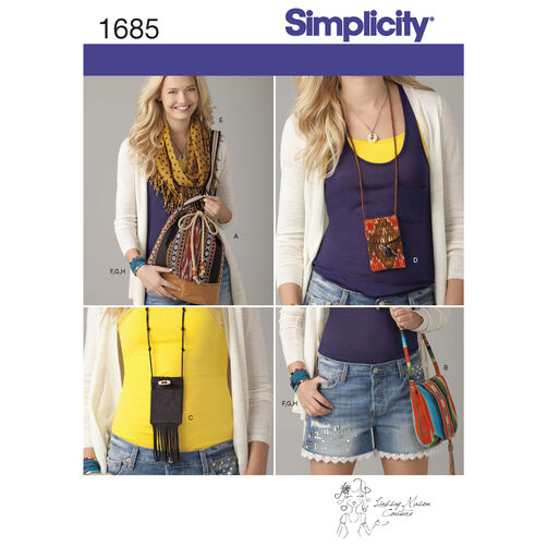 Simplicity Pattern 1685 Assorted Fashion Accessories