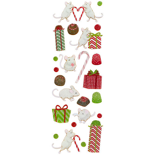 Peppermint Winter Mouse Stickers_48-30242