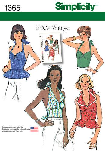 Misses' Vintage Halter Tops