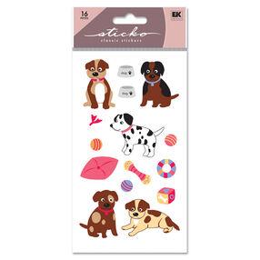 Puppies Glitter Classic Stickers_SPLFB29