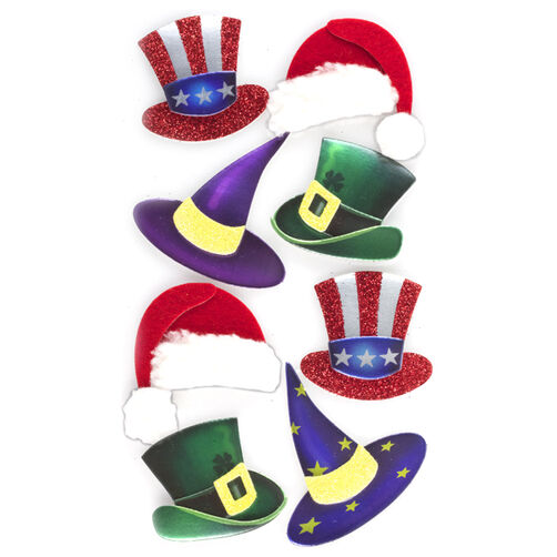 Holiday Hat Stickers_50-50554