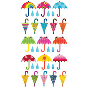 Patterned Umbrella Value Pack Stickers_52-20241