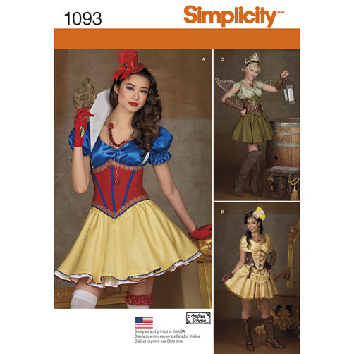 Simplicity Pattern 1093 Misses' Cosplay Costumes