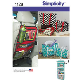 Simplicity Pattern 1128 Totes and Organizers