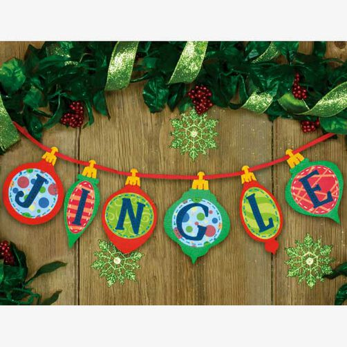 Jingle Banner in Felt Applique_72-08195