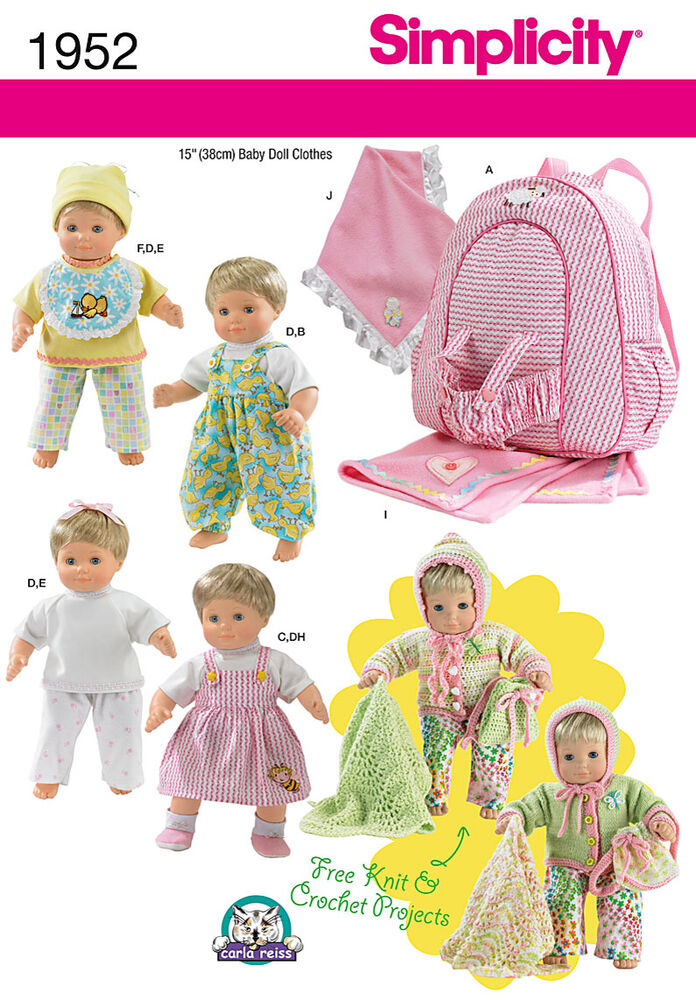 Pattern for Doll Clothes & Accessories | Simplicity