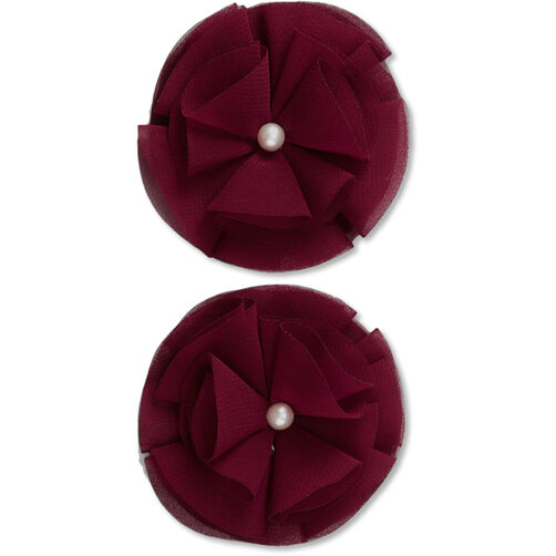 Burgundy Pearl Gem Flower Embellishments_50-60368