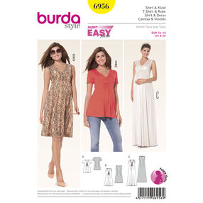 Burda Style Pattern 6956 Maternity Wear