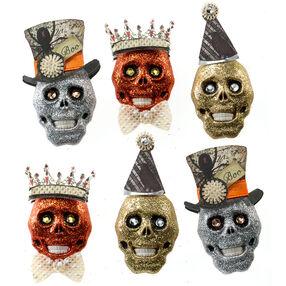 Glitter Skull Stickers_50-21556