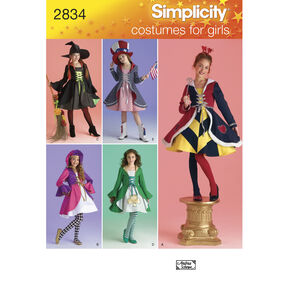 Simplicity Pattern 2834 Girls' Costumes