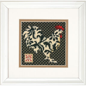 Black and White Rooster, Needlepoint_71-07236
