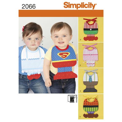 Simplicity Pattern 2066 Babies' Bib Costumes