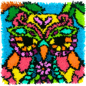Colorful Owl, Latch Hook, 72-75001
