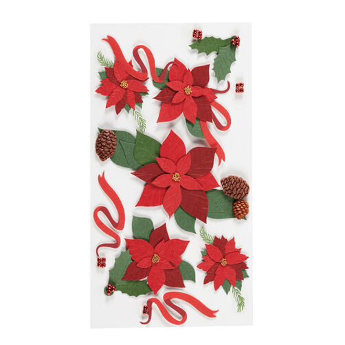 Poinsettias And Holly Stickers_SPJBLG298