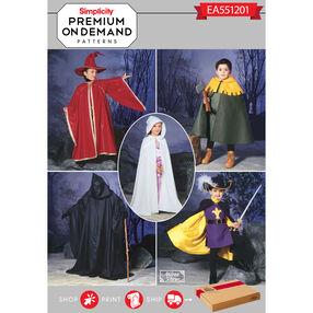 Simplicity Pattern EA551201 Premium Print on Demand Child's Costume Capes