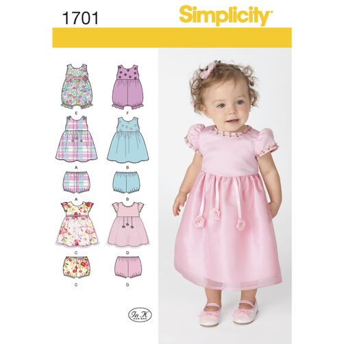 Simplicity Pattern 1701 Babies' Dress and Separates