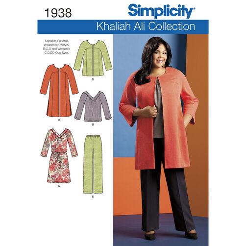 Simplicity Pattern 1938 Misses' & Plus Size Sportswear
