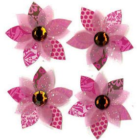 Pink Cluster Flowers Stickers_SPJB652