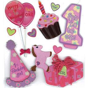 1st Birthday Girl Stickers_50-20239
