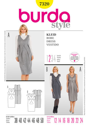 Burda Style Pattern 7320 Dress