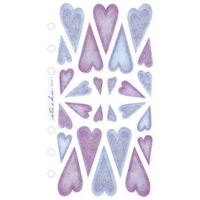 Vellum Stickers Purple and blue Hearts_SPZG03