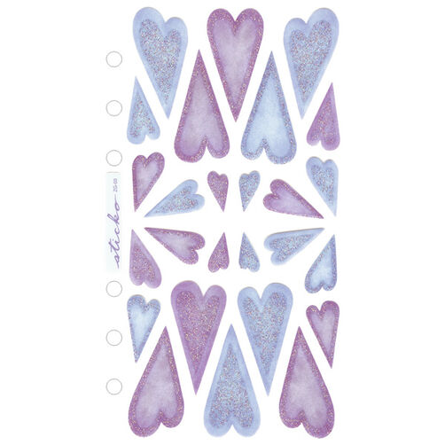 Vellum Stickers Purple and blue Hearts_SPZG03