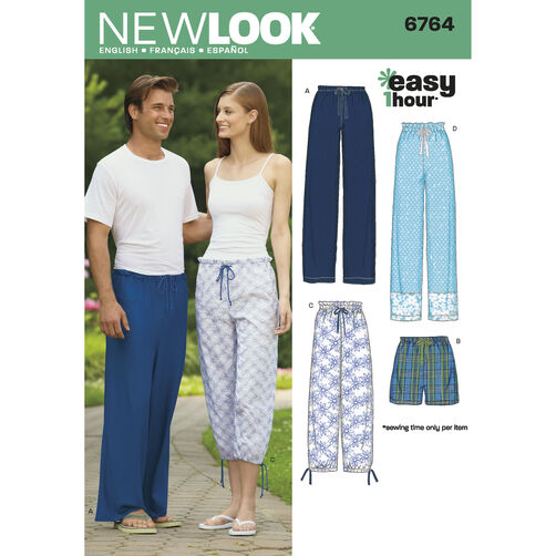 New Look Pattern 6764 Misses', Men's & Teens' Separates