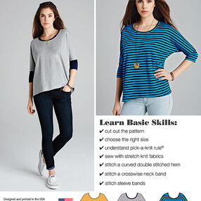 Misses' Learn to Sew Knit Tops