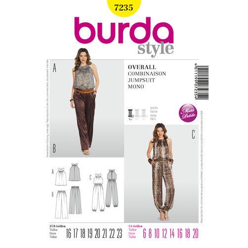 Burda Style Pattern 7235 Jumpsuit