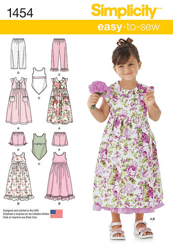 Child's Dress, Slip Dress or Top and Pants or Shorts