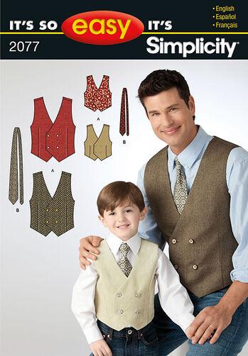 It's So Easy Boy's & Men's Vest & Tie