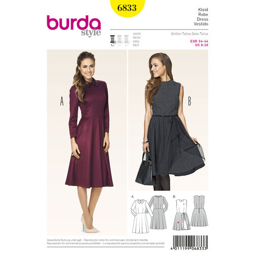 Burda Style Pattern 6833 Dresses
