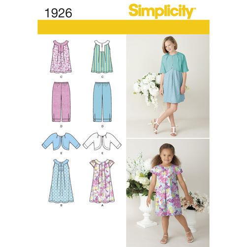 Simplicity Pattern 1926 Child's & Girl's Sportswear