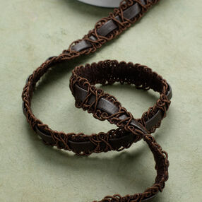 "3 ft. of 5/8"" Braid with Faux Leather"