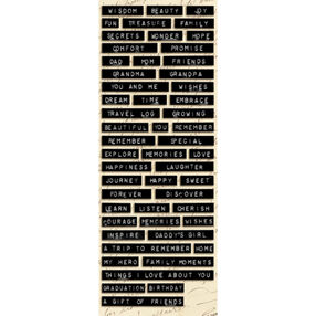 Life's Journey Black Label Words & Sayings Embossed Stickers_560901