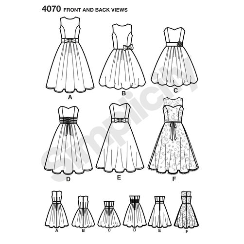 Pattern for Miss & Miss Petite Special Occasion Dresses