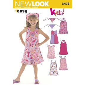 New Look Pattern 6478 Child's Dresses