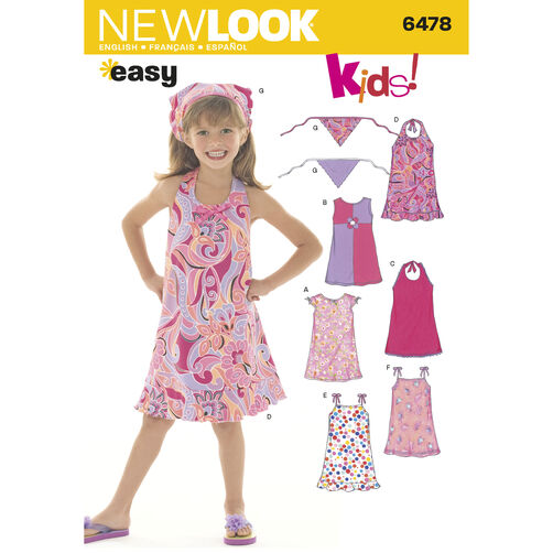 New Look Pattern 6478 Child Dresses