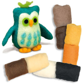 Owl Felted Characters, Set of 2_149097
