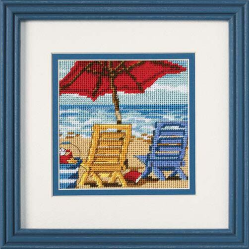 Beach Chair Duo, Needlepoint_07223